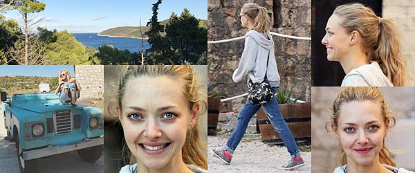 21 Septembre 2017 :  Amanda est arrivée sur le tournage du film Mamma Mia : Here we go again en Croatie !