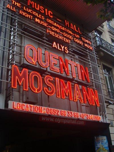 Concert de Quentin Mosimann le 25 septembre 2010 à L'olympia à Paris
