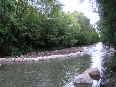 Travaux réalisé en 2010 en amont du pont de Montférand