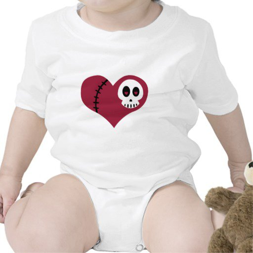 skull heart baby clothes rompers fashion design online - Hicustom.com