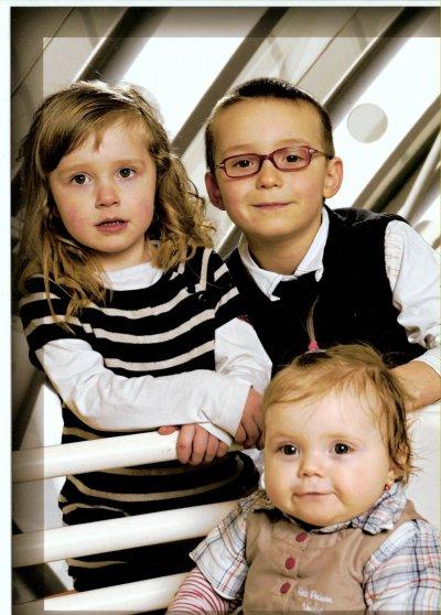 voici mes 3 enfants