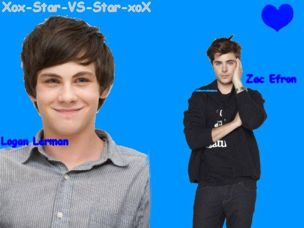 Logan Lerman VS Zac Efron