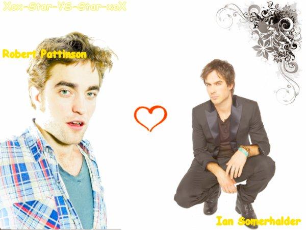 Robert Pattinson vs Ian Somerhalder $)