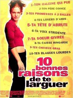 ➽ 10 BONNES RAISONS DE TE LARGUER | ★★★★★ |