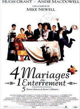 ➽ 4 MARIAGES ET 1 ENTERREMENT | ★★★★★ |