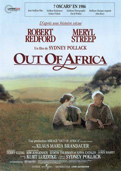 ➽ OUT OF AFRICA, SOUVENIRS D'AFRIQUE | ★★★★★ |