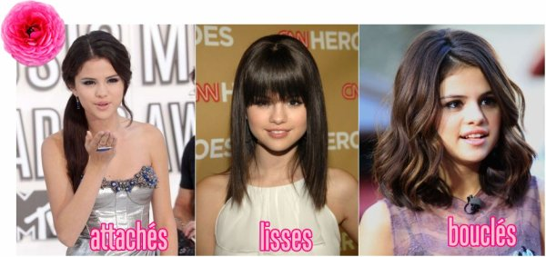 Les styles de coiffures de Selena Gomez