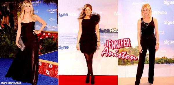 Jennifer Aniston misse tous sur le noir aux avants-première de Just Go with It Vos avis ?