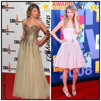 Taylor swift sur les tapis rouges :)