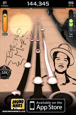 Bruno Mars Revenge App on iphone