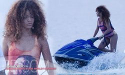 rihanna enjoying her time in Barbados