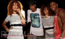 new pictures of rihanna on the set of J. Cole vidoe