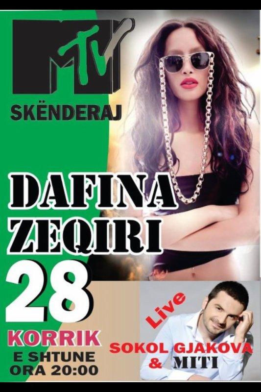 Tomorow Dafina Zeqiri at MTV club skenderaj be there !!!