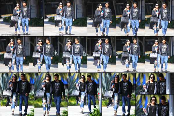 *  14.04.2016 - Demi et Wilmer ont été vu quittant le cantre commercial Pacific Design Center à West Hollywood ! *