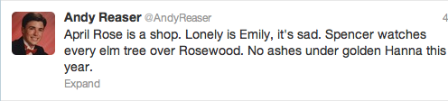 Tweet d'Andy Reaser