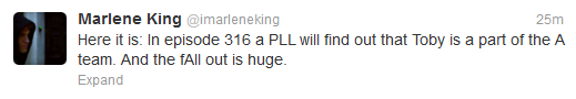 Tweet de Marlene King