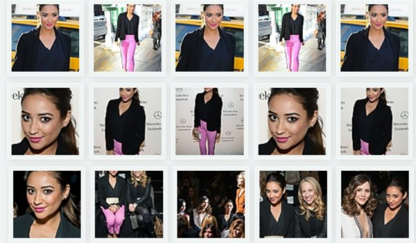 Shay Mitchell à la Fashion Week et au défilé de DKNY