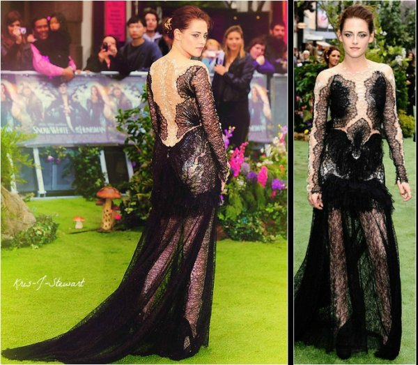 14/05/2012 :Kristen était à Londres pour l'avant-première de Blanche Neige et le Chasseur