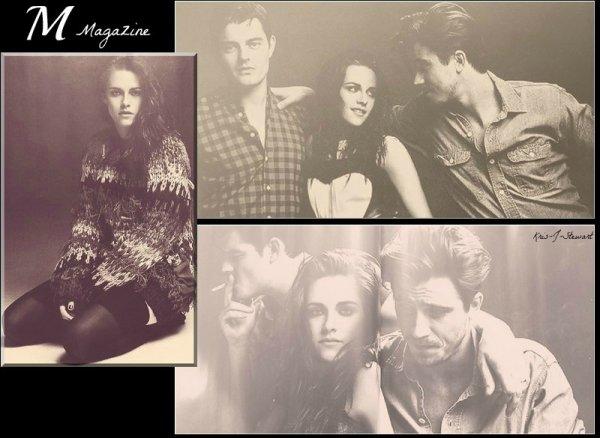 Sam, Kristen et Garrett pour M Magazine + Les photos de la conférence de presse pour Snow White and the Huntsman réalisé à Londres