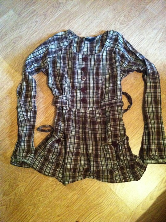 Tunique chemise Marron Beige Neuf