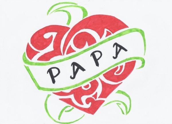 Dessin Coeur Papa Fait Le 11 06 2012 Blog De Lilides