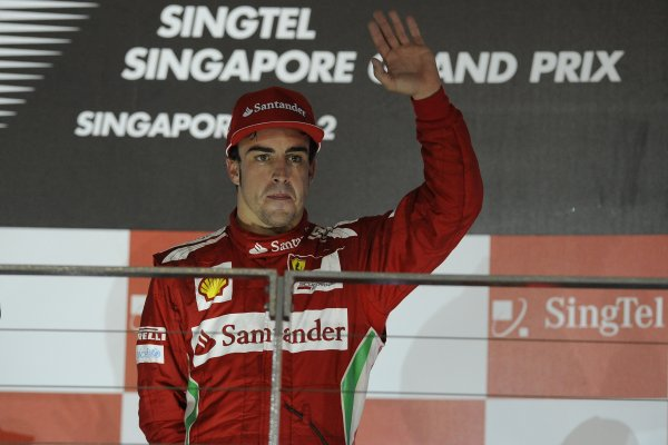 Singapour 2012 : Alonso s'en contente mais attend plus de Ferrari