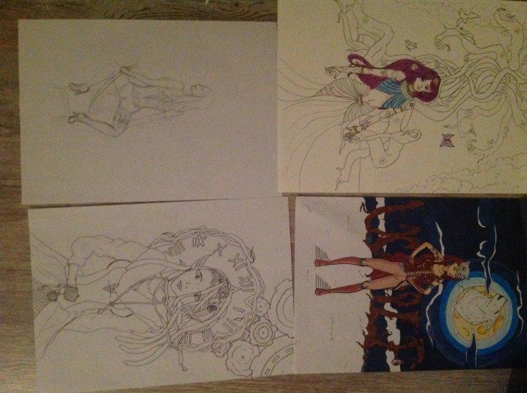 4 dessins en même temps :o