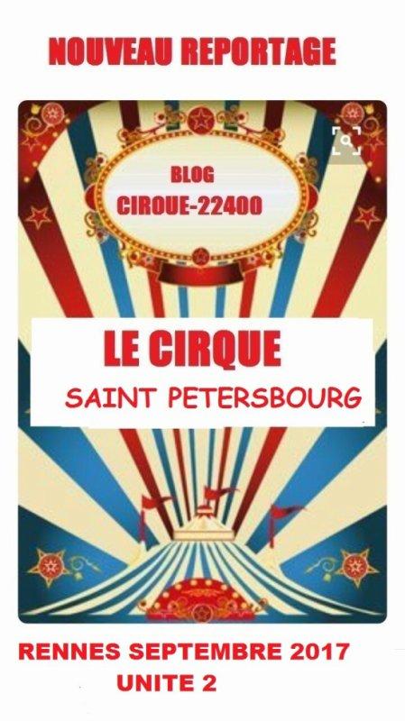 LE CIRQUE SAINT PETERSBOURG UNITE 2 RENNES SEPTEMBRE 2017