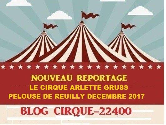 LE CIRQUE ARLETTE GRUSS PELOUSE DE REUILLY DÉCEMBRE 2017