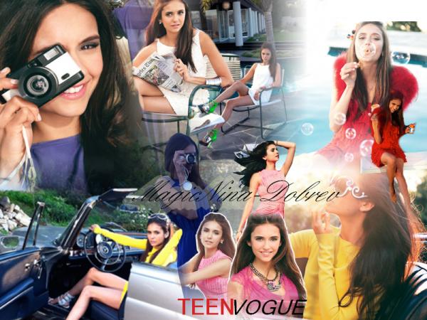 Voici des merveilleux photoshoot de Nina pour TeenVogue