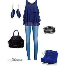 tenue citadine bleu électrique