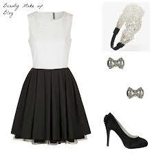 tenue classe robe en black & white