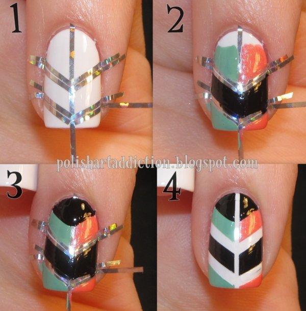 nail art symétrique