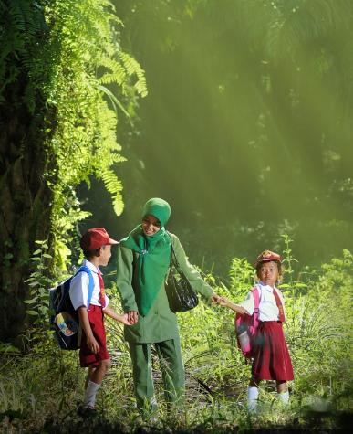 Children's going to School - SchoolandUniversity