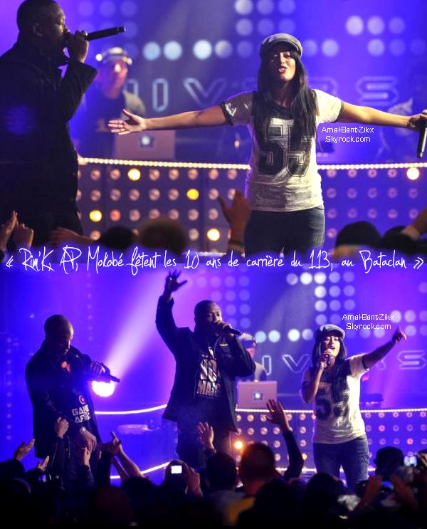 """Le 113 a donné un concert exceptionnel . Pour leurs 10 ans de carrière !!! un show de malade avec Amel Bent sur leurs Nouveau Titre : """"On pensent a vous"""" déja disponible sur iTunes"""