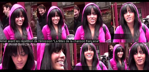 * LA FETES DE LA CHANSON FRANCAISE 08/01/2011 Amel acceullie par ses fan's à la sortie des répét' pour signé des autographe,faire quelques photos et souhaité meilleur voeux à tous . VIDEO  *