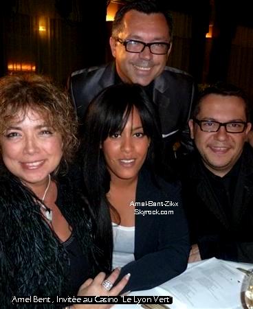 """* 15.01.2011 Amel Bent l'invitée du casino """"Le Lyon Vert""""*"""