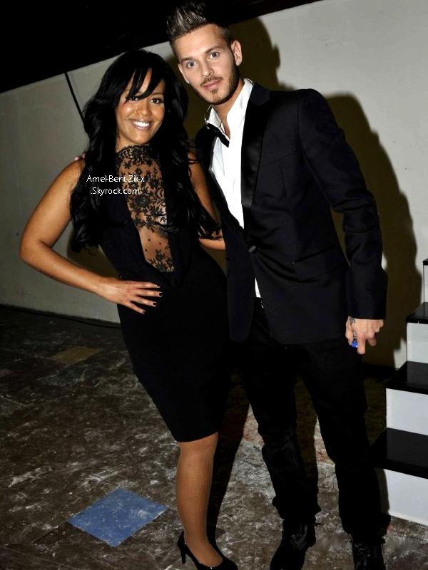 (23.01.11) EXCLUSIF // Amel et M pokora, photo du site officiel de mathieu