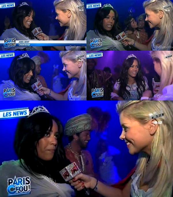 """Amel Bent mini passage dans l'émission """"pAris C fou !"""" sur NRJ12"""