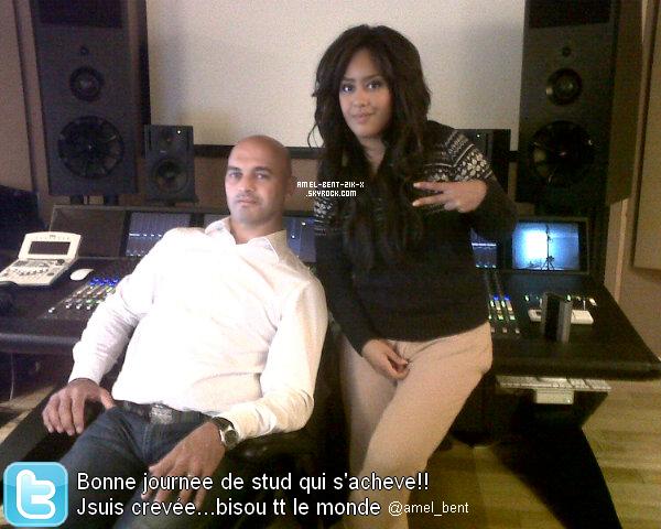 08-10-2011 Amel Bent fut toute la journée jusque cette Nuit en Studio !!! tres fatiguée... via son Twitter