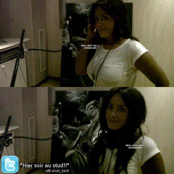 11-10-2011 Nouvelle photo d'amel toujour en studiok poster sur son twitter officiel !