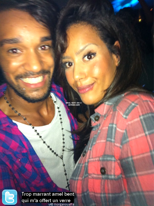 11-10-2011 Amel en soirée avec Morgan (candidat de secret story 5)