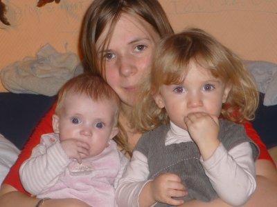 ma fille synthia avec ces deux filles florenza et lauredana