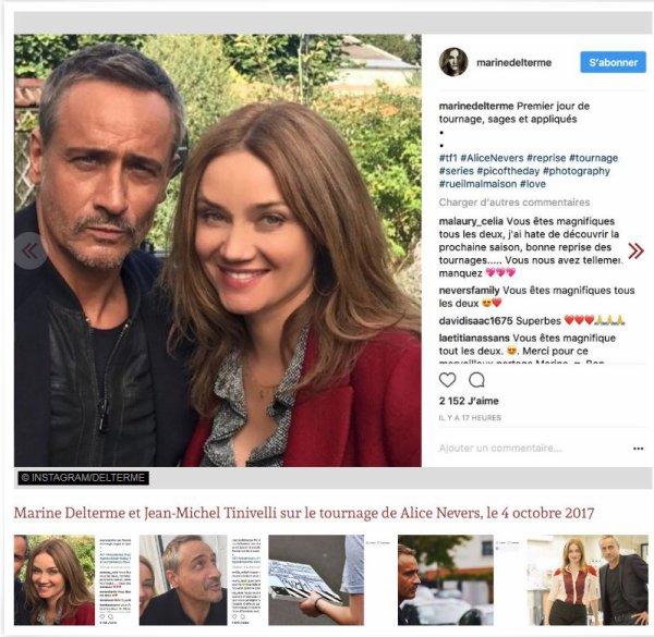Alice Nevers : Marine Delterme et Jean-Michel Tinivelli ont démarré le tournage de la nouvelle saison