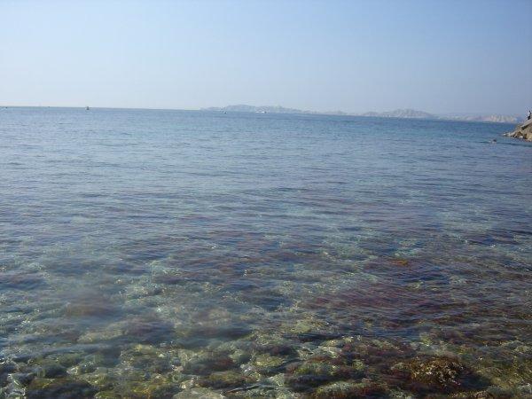 La plage .