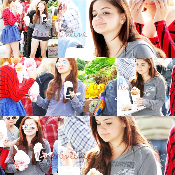 . Ariel Winter at a farmer's market in Los Angeles, CA (18/11/12) .