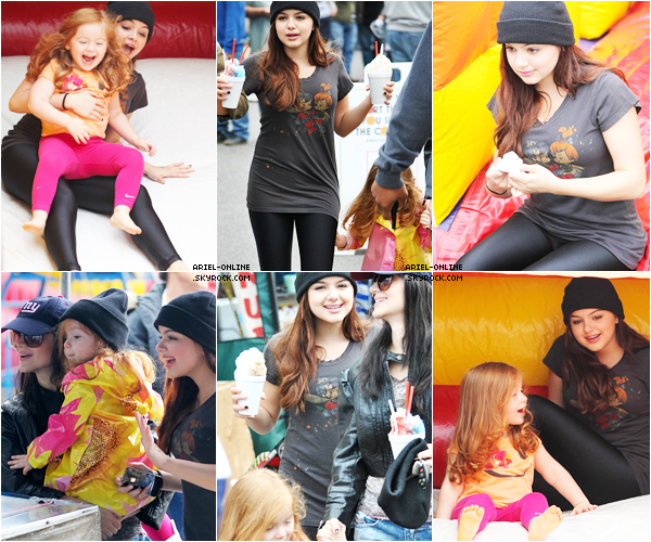 . Ariel Winter and her family at a farmer's market in Los Angeles, CA (02/12/12)  .