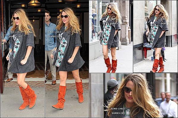 - Le 18/10/2014 : Seule, Notre futur Maman Blake Lively faisant les magasins dans sa ville New York -