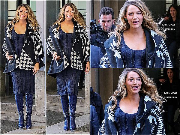 - 08/11/2014 : Blake Lively a était photographiée dans l'après-midi pour rentrer chez elle à New York. -