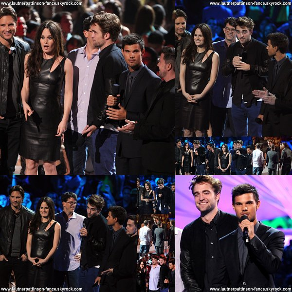 Robert Pattinson & Taylor Lautner aux Video Music Awards 2012